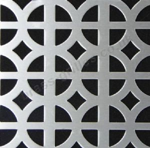 Ohio Decorative Grille Silver Anodised Aluminium Sheet 2000mm x 1000mm x 1mm